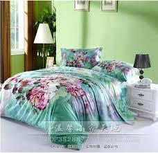 mint bedding vintage mint green fl flower duvets cover bedspread bedding sets king queen size bed