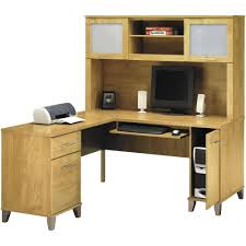 appealing l shaped desk with hutch for office decor with printing machine and computer desks ikea plus white small speakers