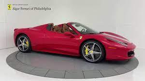 2014 Ferrari 458 Spider Algar Ferrari Of Philadelphia Youtube