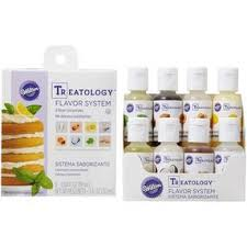 Treatology Flavor Extracts Kit 8 Piece Food Flavoring In