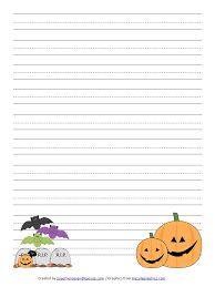 printable halloween handwriting paper  printable halloween handwriting paper