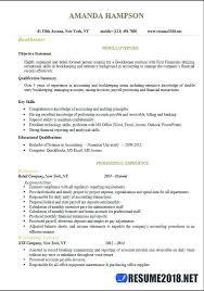 Accounting Bookkeeper Sample Resume | Nfcnbarroom.com