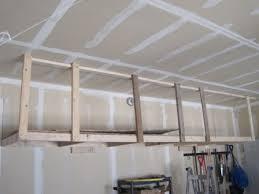 overhead hanging storage slide floor boards on