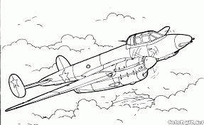 Small Picture Coloring page Fighter Pe 3 bis