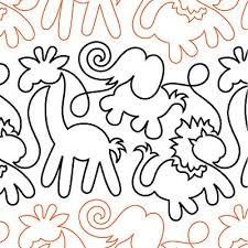 19 best pantographs images on Pinterest | Free motion quilting ... & Animal Crackers - Digital - Quilts Complete - Continuous Line Quilting  Patterns Adamdwight.com