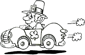 Small Picture Driving Leprechaun Coloring Book Page Leprechaun and race car