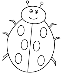 Small Picture Cute Ladybug Coloring Page For Coloring Pages itgodme