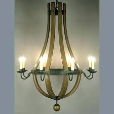 wine barrel chandelier c stave for pottery barn w