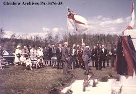 Dedication of 137th battalion memorial, Glenmore Park, Calgary, Alberta. -  Glenbow Library and Archives - Digital Collections