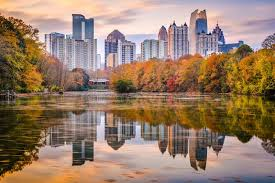 Piedmont Park Concert Seating Chart Atlanta Georgia Usa Piedmont Park Skyline In Autumn Stock