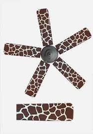 fan blade covers. air supply depot home decor ceiling fan blade cover animal print brown giraffe covers i