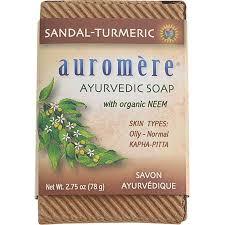 Auromere - Ayurvedic Bar Soap with Organic Neem Sandal-Turmeric ...