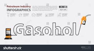 Petrol Station Layout Design Gasohol Typographic Pump Nozzle Creative Design Stock Vector