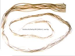 the overlay is the external braid of the whip it s was made of 12 strands of kangaroo leather finely tapered gradually degrading until the last point in