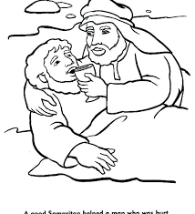 The Good Samaritan Coloring Page As Well Bible Story Pages