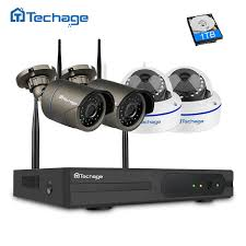Online Shop <b>Techage 4CH 1080P</b> Wireless NVR Wifi CCTV System ...