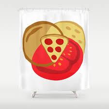 Venn Diagram Pizza Pizza Venn Diagram Shower Curtain By Marodek