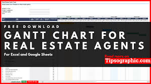 Gantt Chart Google Sheets Free Simple Gantt Chart Template For Real Estate Agents Excel