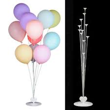 Silynew 103cm Higher Love Style Column Base Balloon Stand Kit Balloon Table Stand Table Floating Balloon For Birthday Party Decorations And Wedding