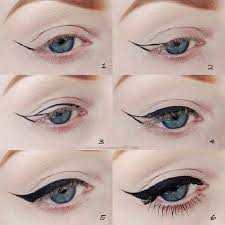 simple winged cat eye makeup tutorial