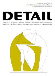 Zeitschrift Für Architektur Baudetail Review Of Architecture
