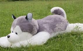 1845cm big large nature siberian husky dog plush