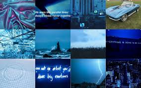 Blue Aesthetic Collage Wallpapers ...
