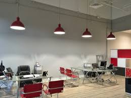 office space area lighting warehousing. featured customer led pendant lighting adds industrial twist to new office space area warehousing