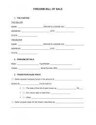 Free Firearm Gun Bill Of Sale Form Pdf Word Eforms – Free ...