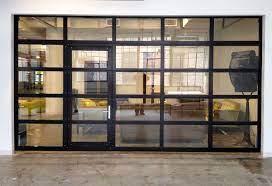 full view aluminum glass garage door