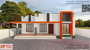 850 sqft budget contemporary style home design kerala