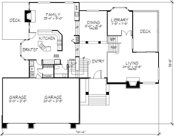 floor plan first story of cape cod plan 146 2953