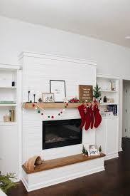 diy shiplap electric fireplace with