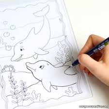 Drawing Pages Dolphin Coloring Pages Easy Peasy And Fun