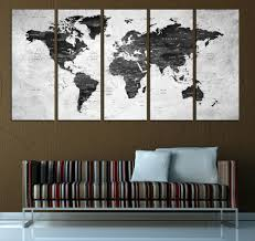 >push pin world map wall art canvas black white world map canvas 596  push pin world map wall art canvas black white world map canvas 596