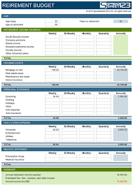 excel retirement spreadsheet retirement budget planner free template for excel