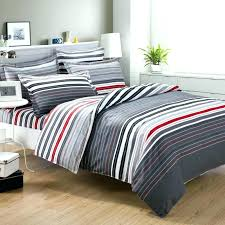 gray striped bedding gray and white striped bedding casual bedroom decor with grey red stripes print gray striped bedding
