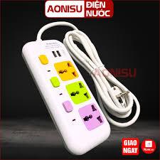 8623 Ổ Cắm Điện Đa Năng 3 Phích , 2 Cổng USB , Dây 3 Mét - Ổ Điện Thông  Minh Có Công Tắc , Phích Cắm Điện Chống Giật chính hãng 95,000đ