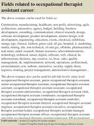 Occupational Therapist Job Description Mesmerizing Top 48 Occupational Therapist Assistant Resume Samples