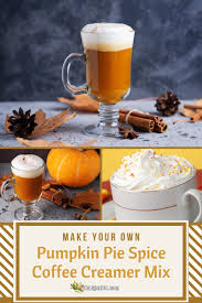Here is a great recipe for pumpkin spice coffee creamer, using just 6 yummy ingredients. Homemade Pumpkin Pie Spice Coffee Creamer Mix Recipe