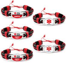 diabetes diabetic type 1 2 cal alert leather bracelets 25 18mm gl dome cabochon jewelry women men boy uni gift
