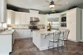 modern white kitchen ideas with cabinet and countertop