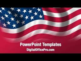 American Flag Powerpoint Us Flag Waving Powerpoint Template Backgrounds Digitalofficepro 02329w