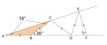 二 等辺 三角形 角度