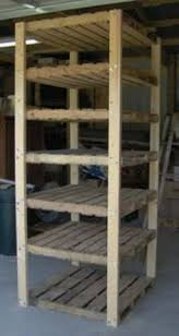 Simple, Durable, and Cheap diy Shelving From Wood Pallets, wooden shelves,  shelf unit; Can use this in the Garage for extra storage