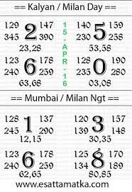 2016 Disawar Chart Satta Matka Lucky Number Satta Matka Result Chart 15
