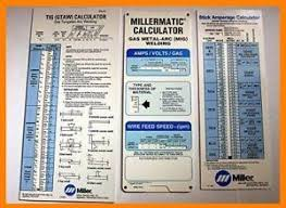 Welder Setting Charts Miller Tig Mig And Stick Welding