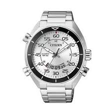 citizen bold mens analog digital watch casual silver band jm5470 image is loading citizen bold mens analog digital watch casual silver