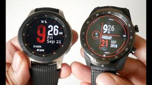 Samsung Watch Comparison Chart Samsung Galaxy Watch Vs Ticwatch Pro Head To Head Comparison