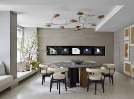 formal dining room ideas. Unusual Ceiling Lamp Decorating Futuristic Dining Room Ideas With Round Marble Top Table And Modern Chairs Formal D